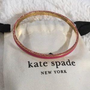 NWOT ♠️ Kate Spade Pink rhinestone bangle♠️